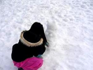 雪景色(その3 雪だるま)