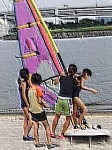 ウィンドサーフィン(地上練習2)
