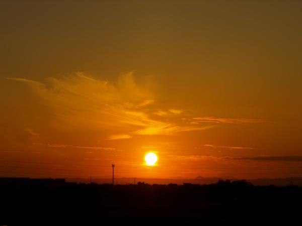 すっきり夕陽