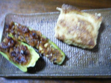 きゅうり味噌とキャベツ袋