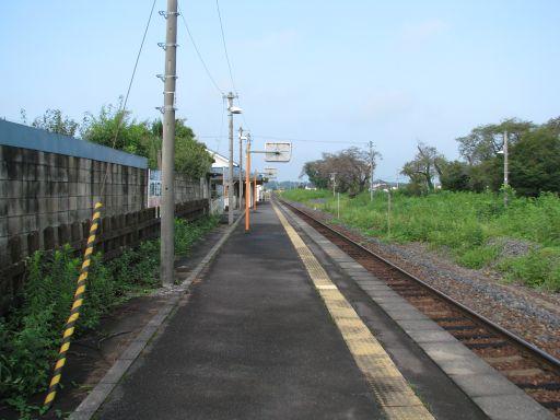 JR烏山線 仁井田駅 ホーム全景