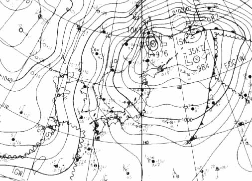 冬型天気図(2007年末) 30日9時