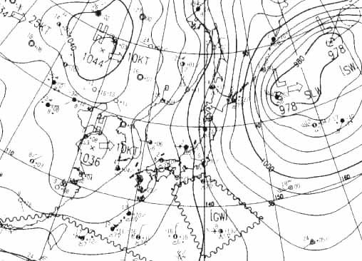 冬型天気図(2006年末)