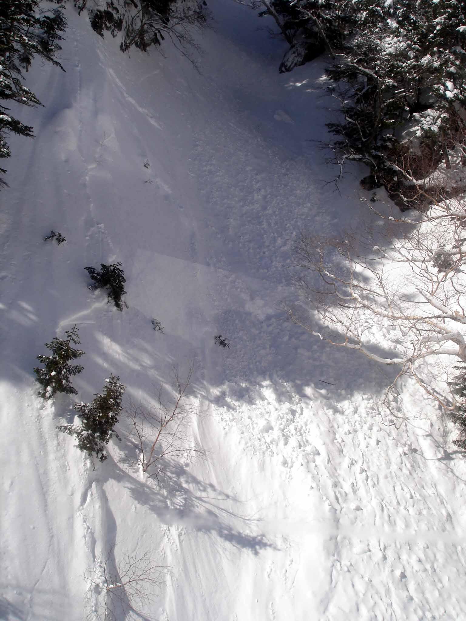 雪崩跡 Dsc00019 谷間の雪崩跡