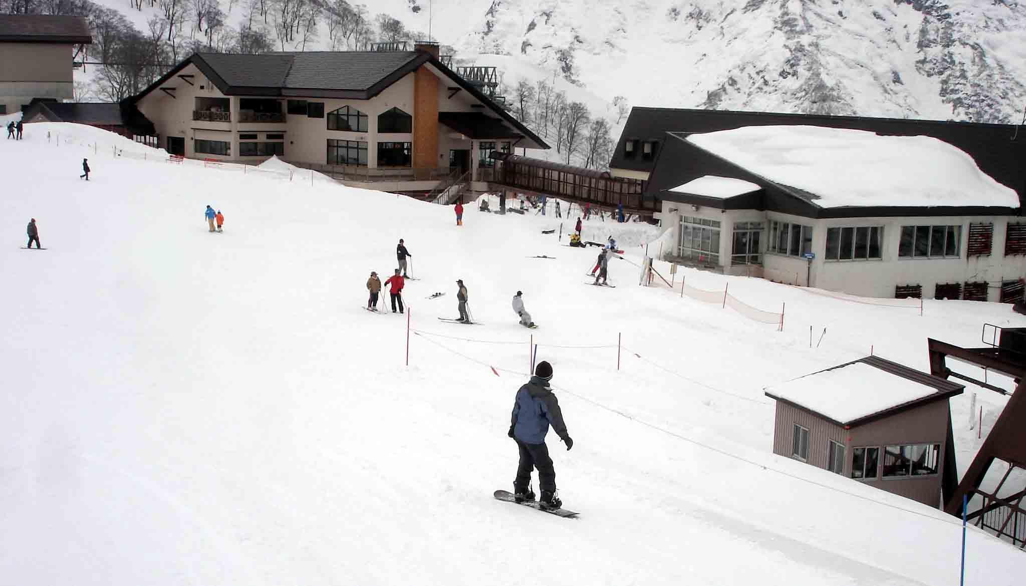Dsc00334 スキー(レストハウス近くへ)