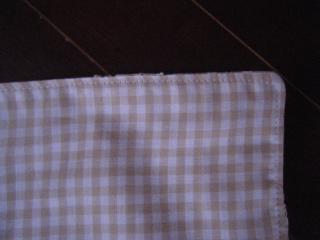 ティッシュカバーミシン縫い