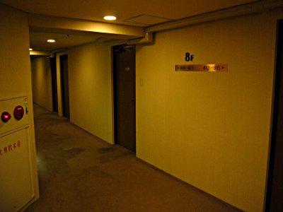 廊下からの景色=普通のホテル