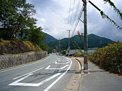 天満宮から竃門神社への道
