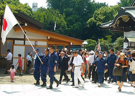 終戦記念日 靖国神社2007年