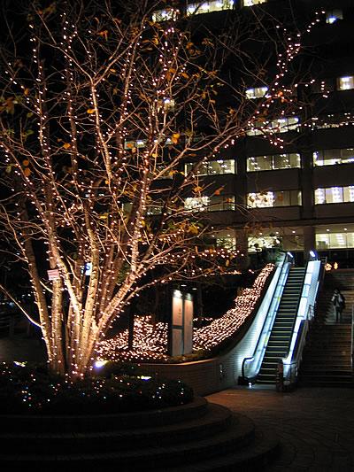 赤坂溜池タワーのイルミネーション