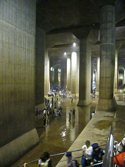 首都圏外郭放水路調圧水槽
