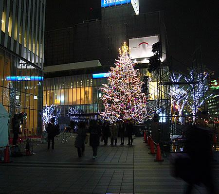 プルデンシャルタワーのクリスマスツリー
