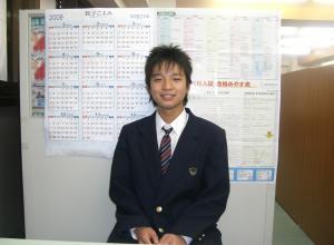 高橋くん、合格おめでとう!!!(東菅野校)