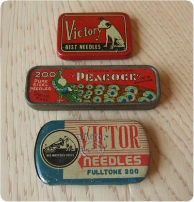 レコード針缶