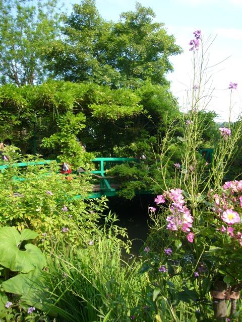 池から見た太鼓橋