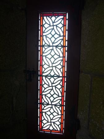 回廊のステンドグラス