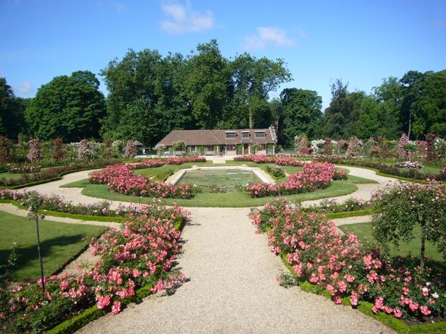 ライレローズの中心の庭