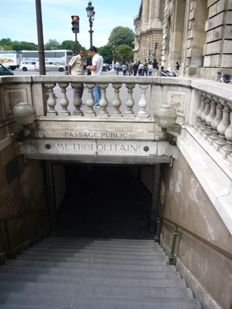 凱旋門への地下道