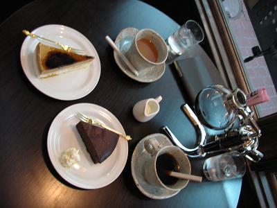 珈琲文明さんのケーキとコーヒー