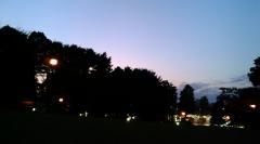 公園での夕暮れ1