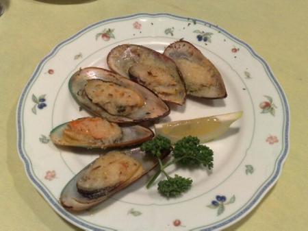 ムール貝のガーリック焼