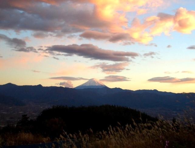 b晩秋の富士山1