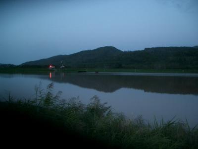 ある地域の圃場も水の中