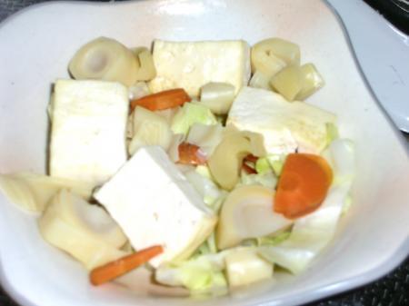 筍と豆腐炒め