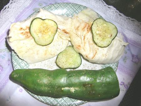 野菜のグリル焼き(顔)