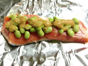 鮭&枝豆ホイル焼き1