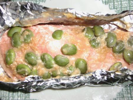 鮭&枝豆ホイル焼き2
