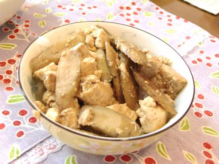 ごぼう豆腐丼