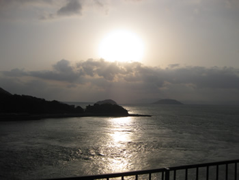 別荘から見た景色