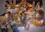 真救世主伝説 北斗の拳 ラオウ伝 殉愛の章 公式ガイドブック&ポスター(表)&フィギュア(レイナ)