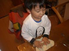 ユウトのピザ作り