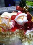 食べかけのクリスマスケーキ