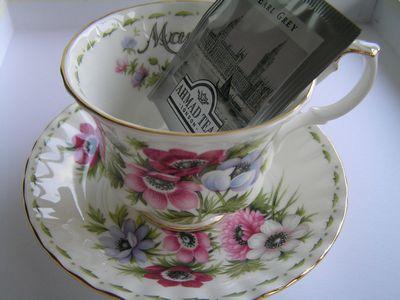 紅茶を飲みながら・・・