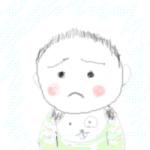 悲しい顔のあっ君…