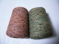 ピンク混&グリーン混シルク糸