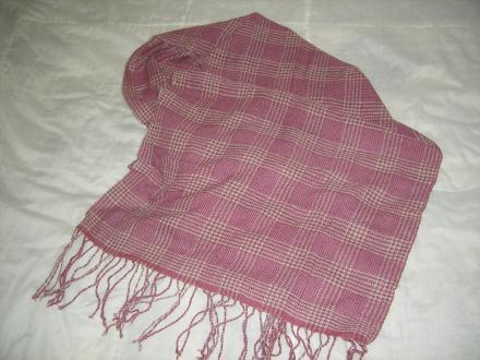 グレンチェックのショール(平織り)