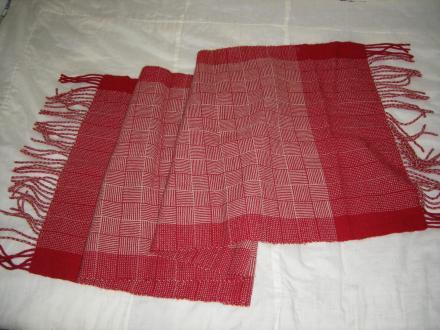 網代織りのショール
