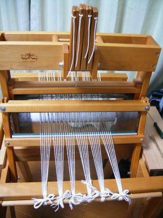 マット織りの準備