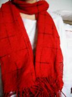 刺し子織りのスカーフ