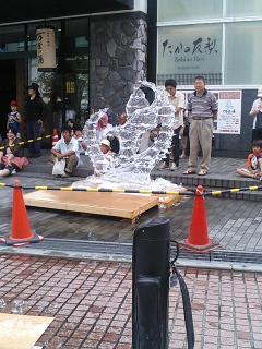 小田原ちょうちん祭り 氷像作り