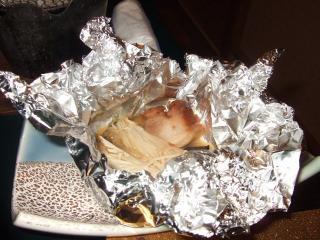 豚角肉のホイル焼き