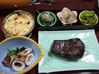 夕飯 民宿ふじま1