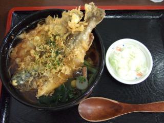 道の駅 山北 「不老そば 950円」 イワナ