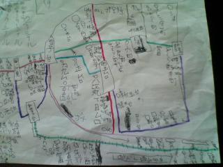 オリジナル電車路線図