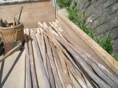 間伐材を利用した杭