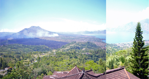 バトゥール山とバトゥール湖